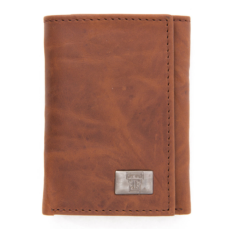 Brandish Tri-fold Wallet Brown