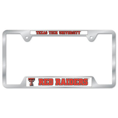TTU RR Metal License Plate Frame