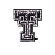 Auto Emblem Crystal Double T Clear