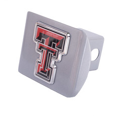 Hitch Cover Metallic Silver with Color Double T