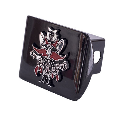 Hitch Cover Black with Raider Red