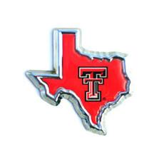 Auto Emblem Dbl T Shape of TX Red