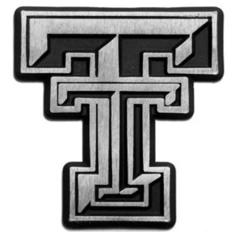 Auto Emblem Matte Chrome Double T