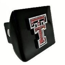 Hitch Cover Black  with Red Crystal Dbl