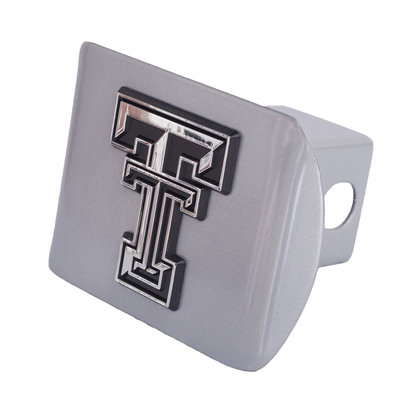 Hitch Cover Silver with Chrome Double T