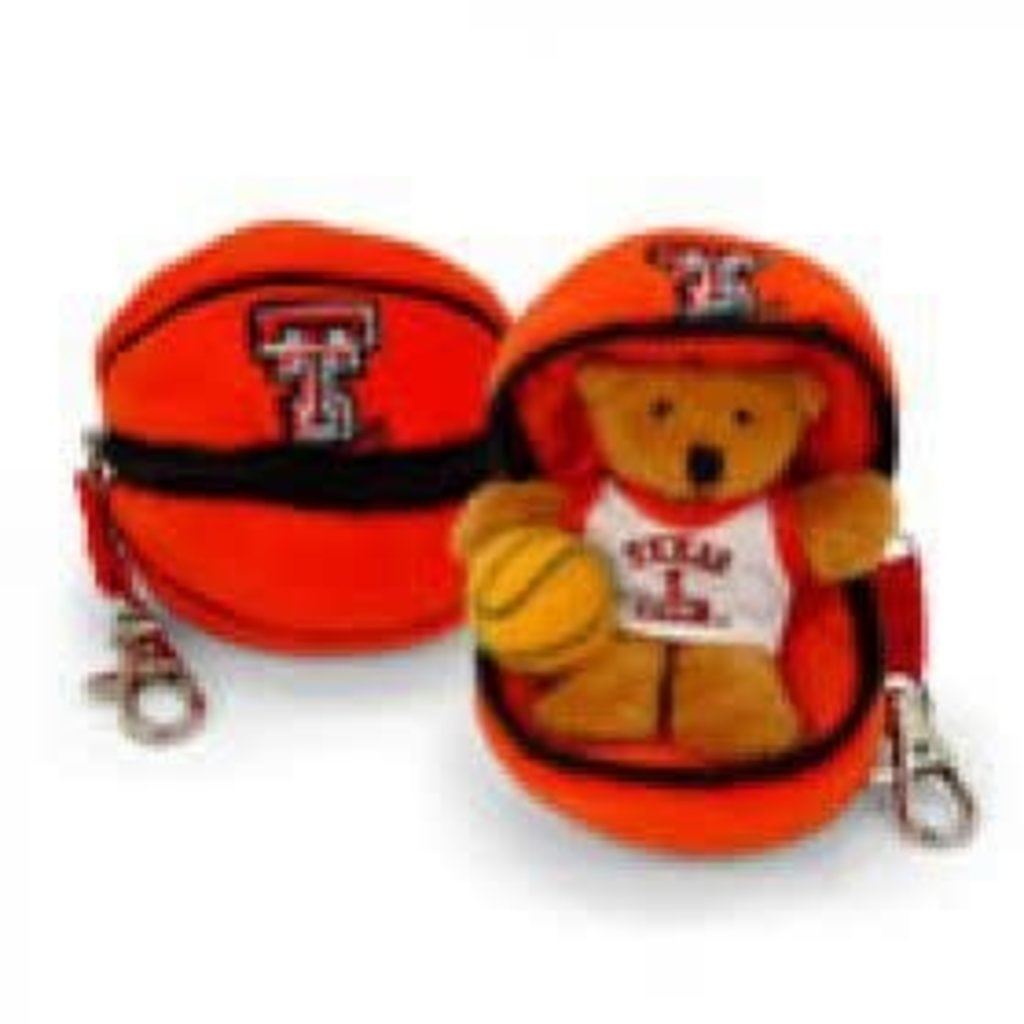 Plush Zipper Basketball Keychain