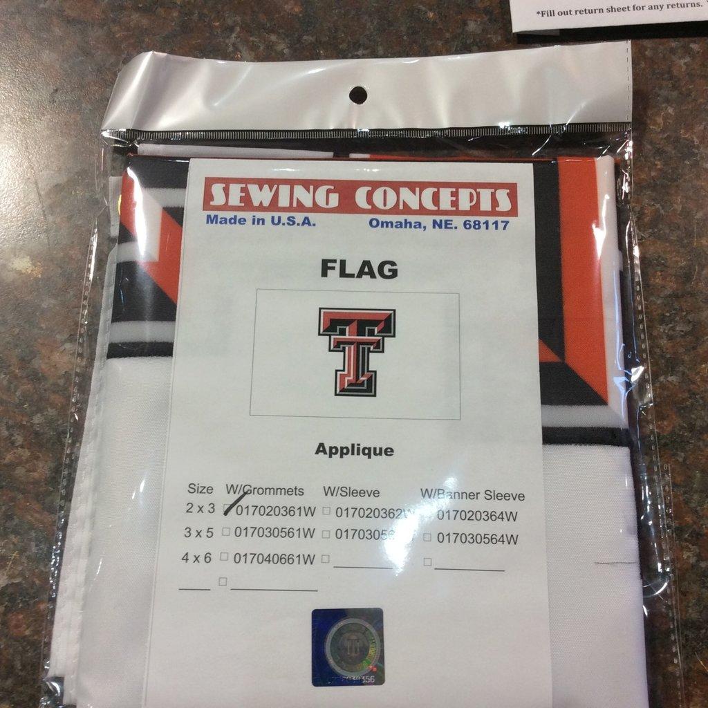 2' x 3' White Flag w/ Double T