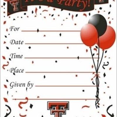 Texas Tech Party Invitations