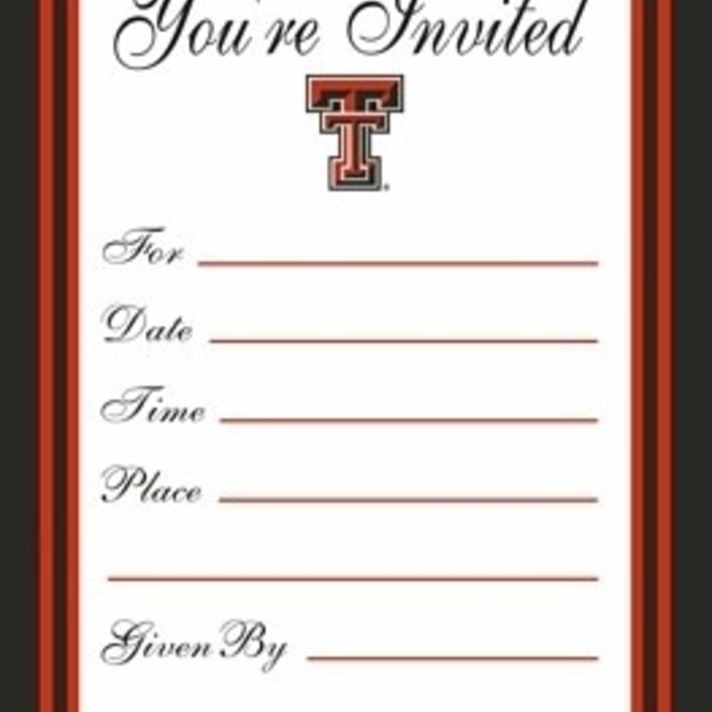 Texas Tech Formal Invitations
