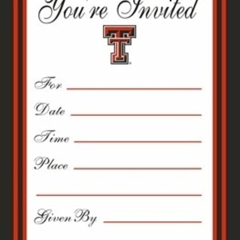Texas Tech Formal Invitations