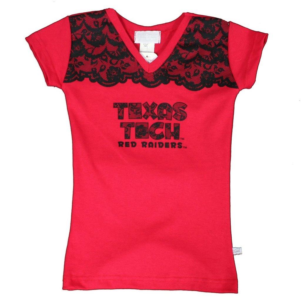 Lace V neck Girls Tee #4325