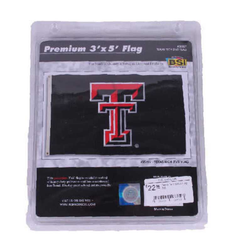 Black Double T Flag 3x5