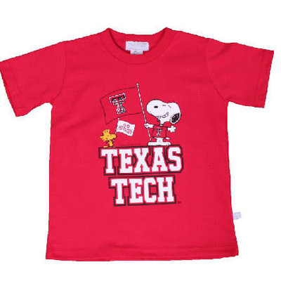 Snoopy Flag Texas Tech SST