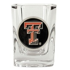 Square Shot Glass with Double T Medallion