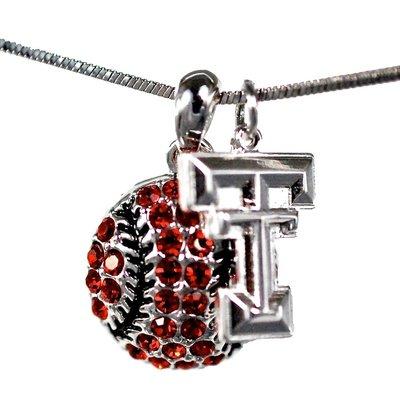 Crystal Baseball Necklace