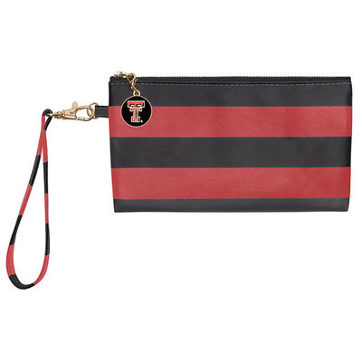 Blake Wristlet Red/Black Stripe