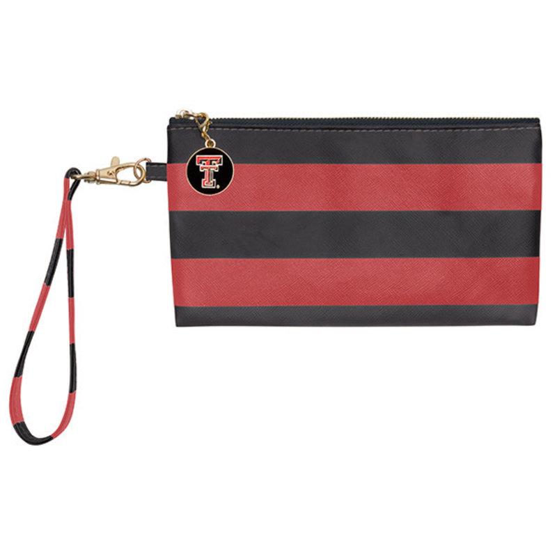 Blake Wristlet Red/Black Stripe