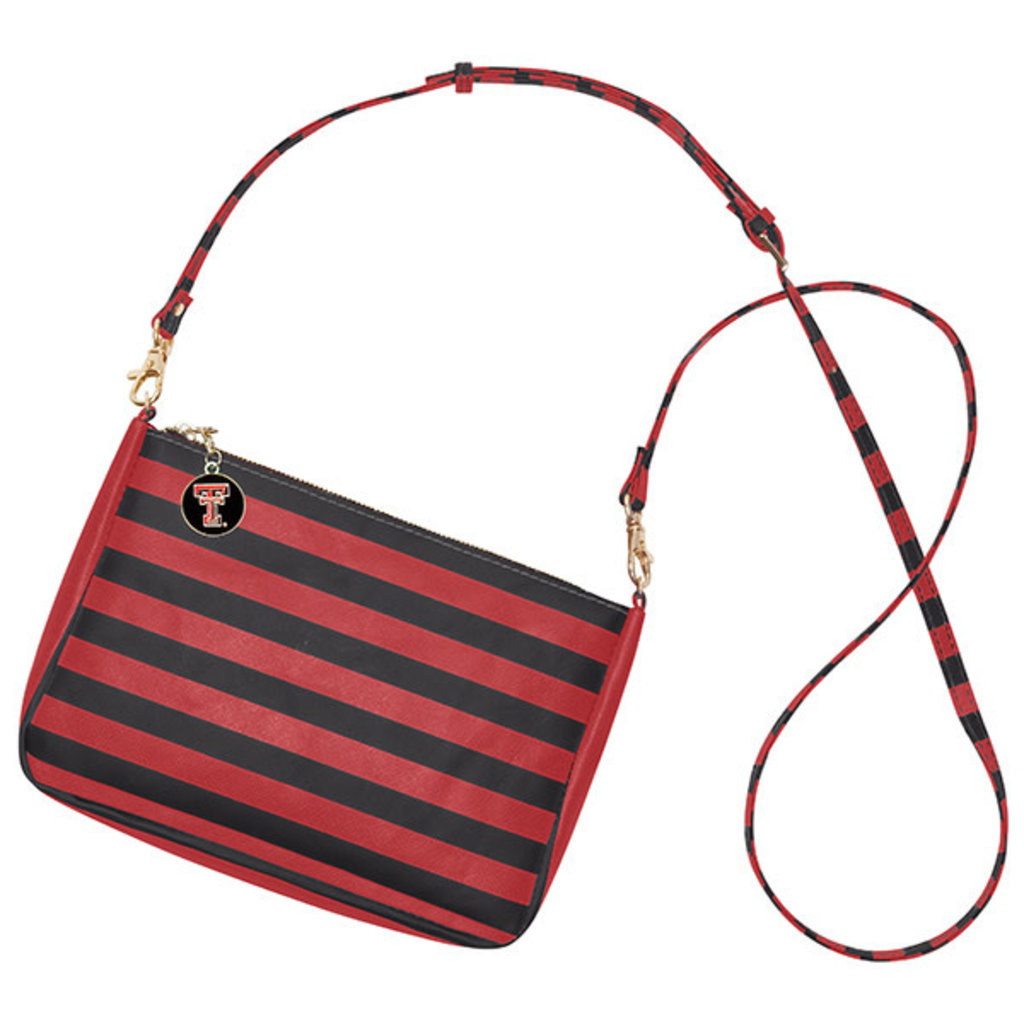 Reese Crossbody Red/Black Stripe