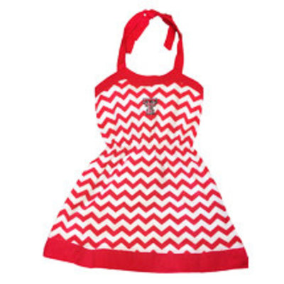 Skylar Chevron Halter Dress