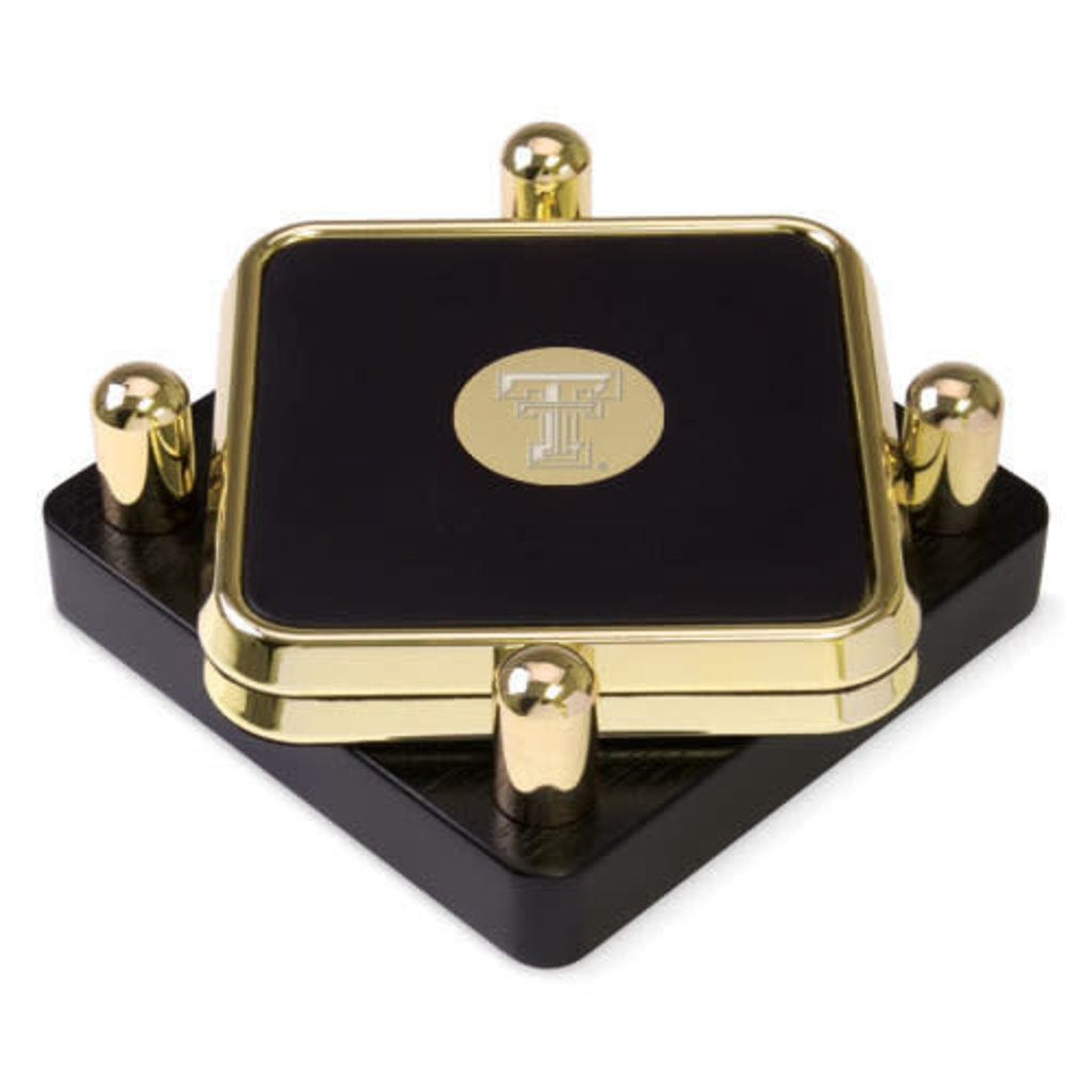 Square Gold Medallion Coaster Set