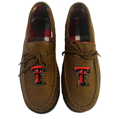 Men's Chestnut Moccasin Slipper with Wool Lining
