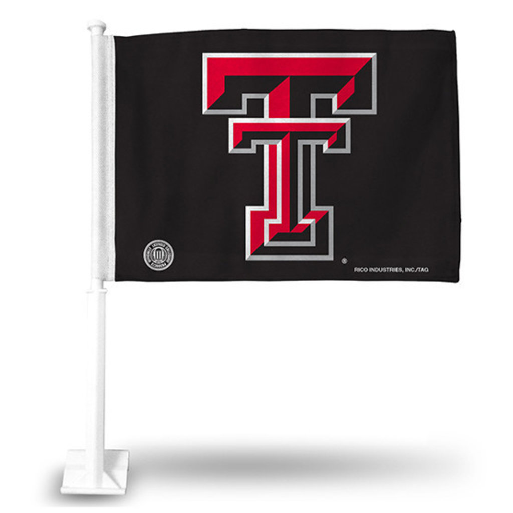 Double T Car Flag - Pink
