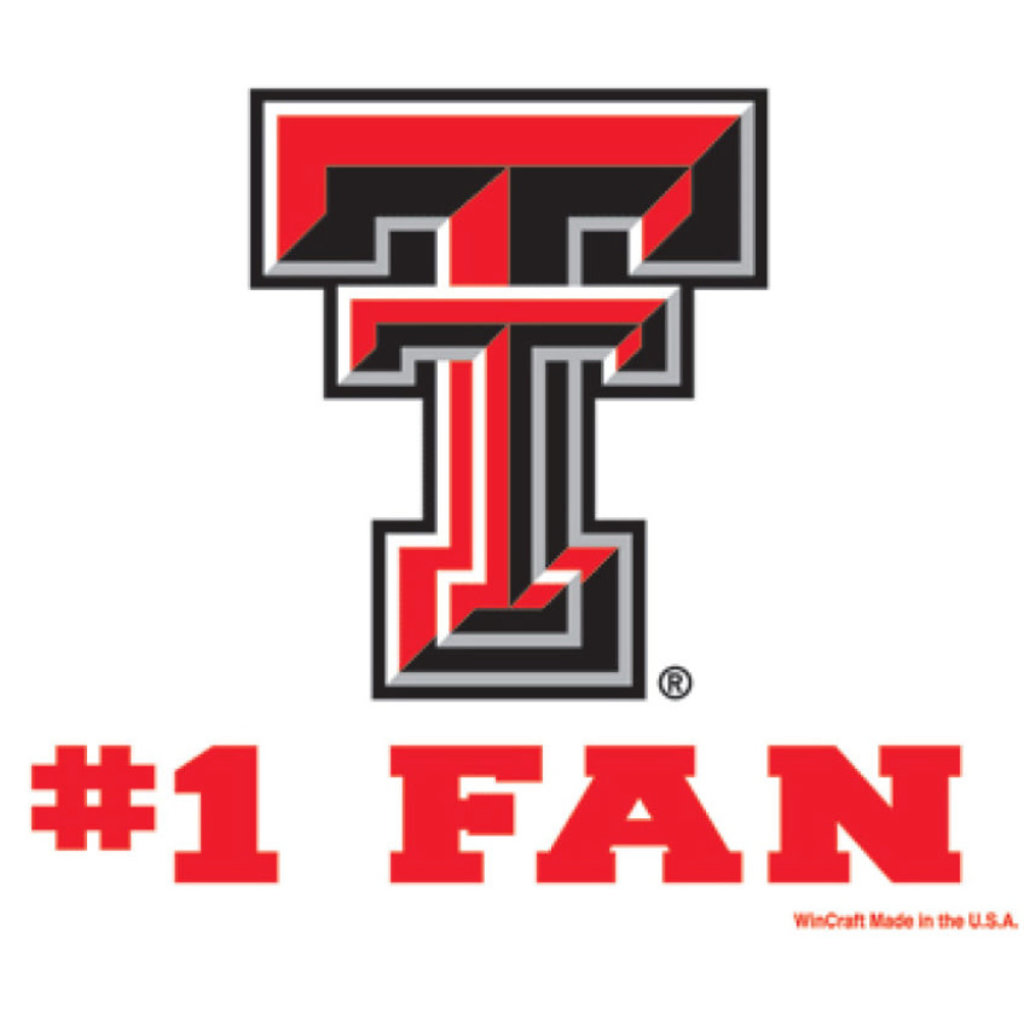 3x4 Texas Tech #1 Fan Decal