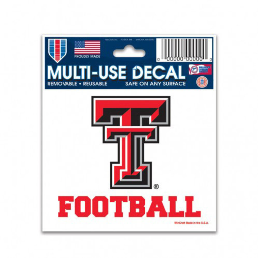 3x4 Texas Tech Football Decal