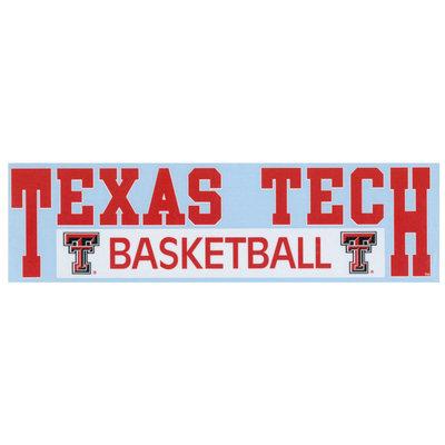 3x11 Texas Tech Basketball Decal