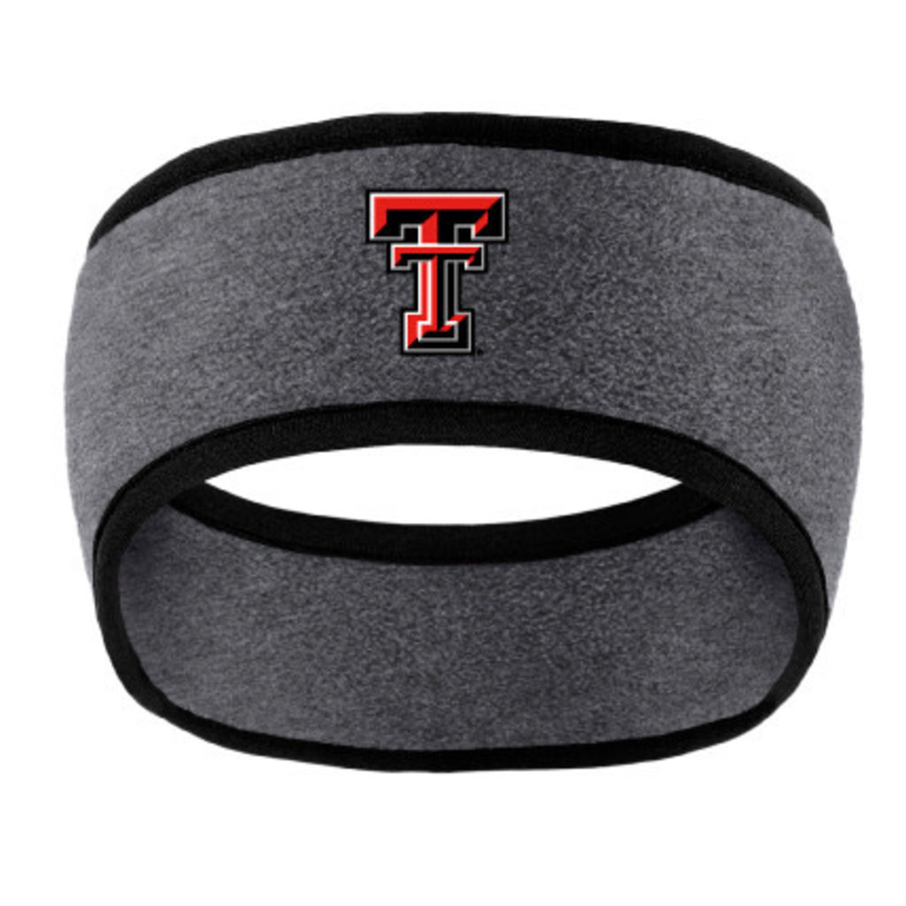 Two Tone Fleece Headband Grey/Black