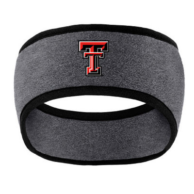 Two Tone Fleece Headband Grey/Black