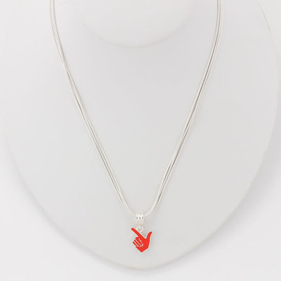Guns Up Hand Necklace