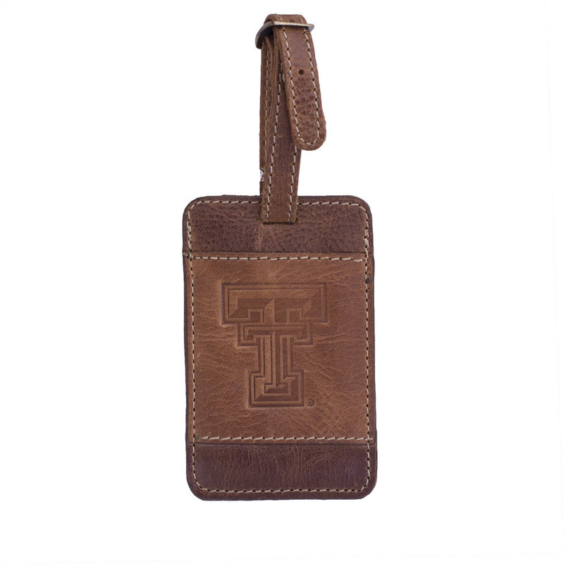 Westbridge Leather Luggage Tag - Brown