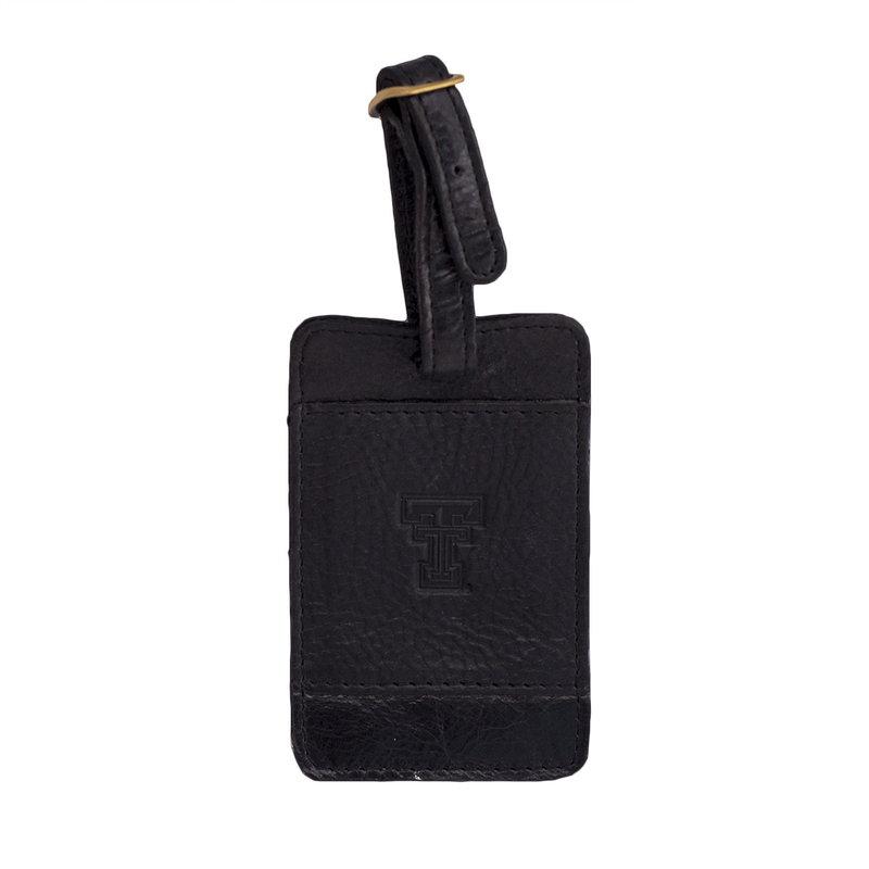 Westbridge Leather Luggage Tag - Black