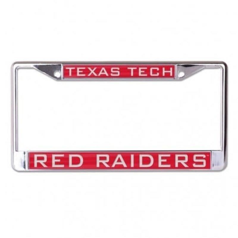 Laser Cut License Plate Frame Tx Tech Red Raiders