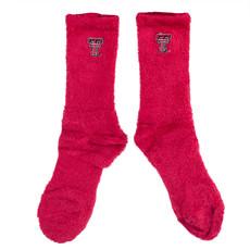 Fuzzy Red Socks