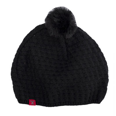 TOW Bunny Ladies Knit Toboggan Black