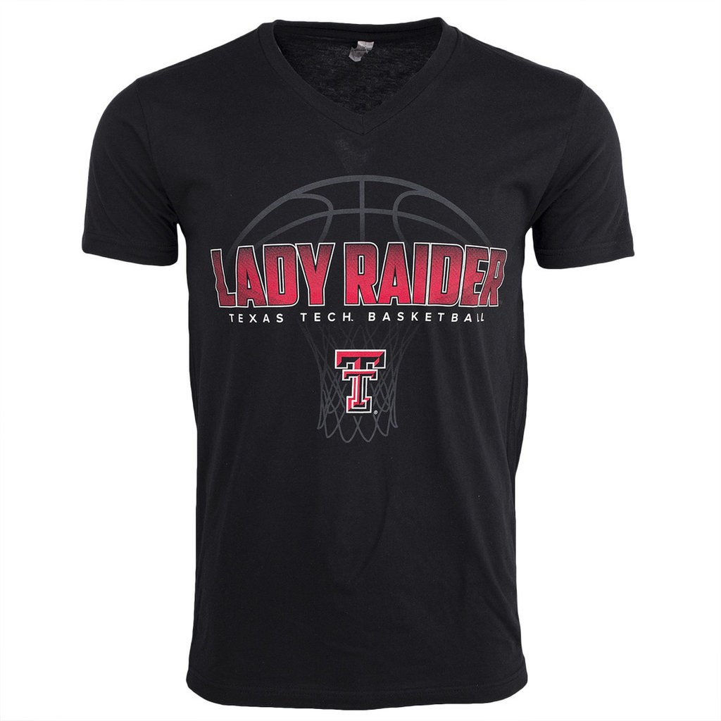 Lady Raider Shaded Basketball SST V-neck