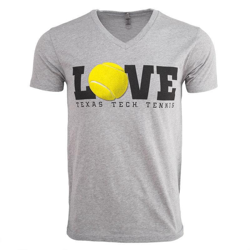 Tennis Love Puff Print Short Sleeve Tee