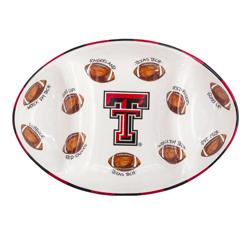 Ceramic Football Platter