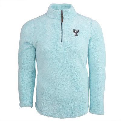 Ladies Sherpa Fleece 1/4 Zip Pullover