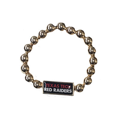 Society Gold Beaded Nameplate Bracelet