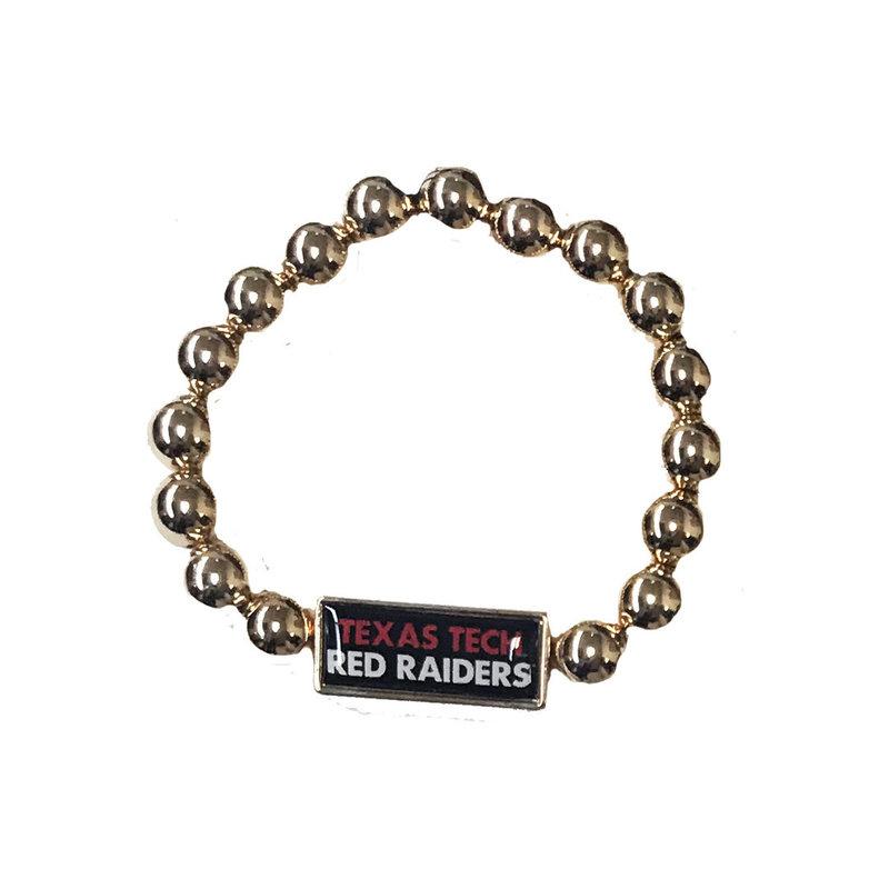 Society Gold Beaded Nameplate Bracelet