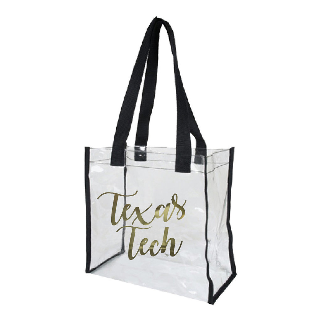 Game Day Bag - Clear/Black/Gold Texas Tech