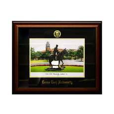 Will Rogers Lithograph Walnut Frame