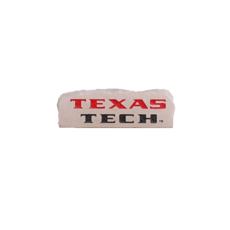 Small Rectangle Texas Tech Engraved Garden Stone