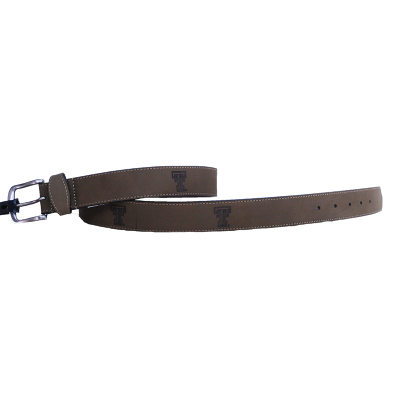 Crazy Horse Light Brown Leather Embossed Belt