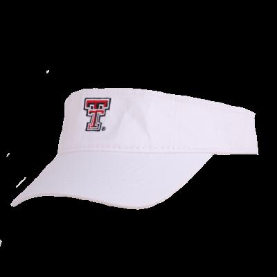 Youth Cotton Adjustable White Visor
