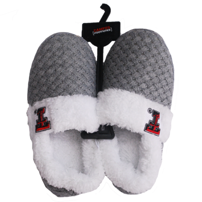 Sweater Knit Faux Sherpa Slipper