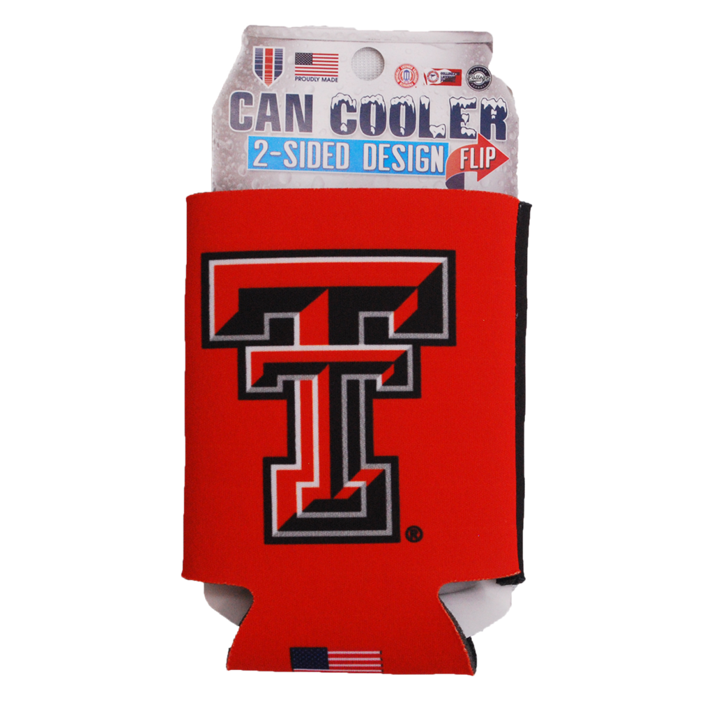 2 Sided Black/Red Can Cooler